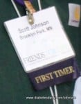 "Picture of my ""First Timer"" badge at FFL 2010"