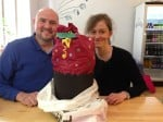 Scott, Viola and the giant cupcake!