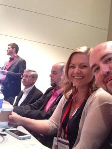 A selfie of the panel showing Korey (moderating), Jeff, Manny, Kerri, and Scott
