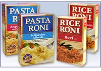 Boxes of Pasta Roni & Rice Roni