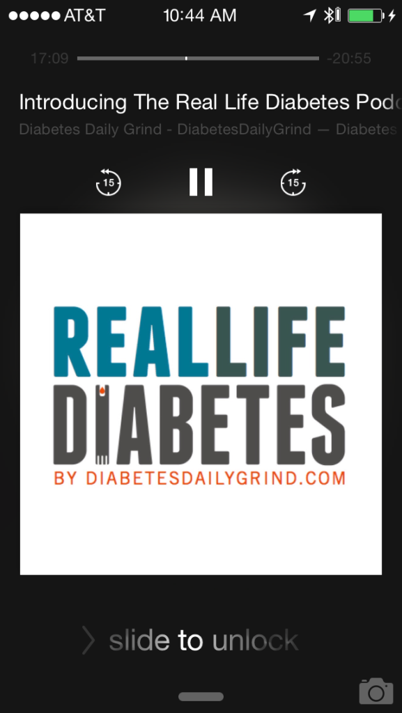 Logo of the podcast, Real Life Diabetes - by DiabetesDailyGrind.com